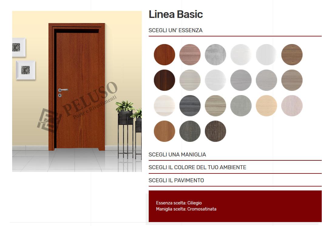 Sostituzione Porte Interne Detrazione nuovo configuratore porte linea basic | peluso porte e